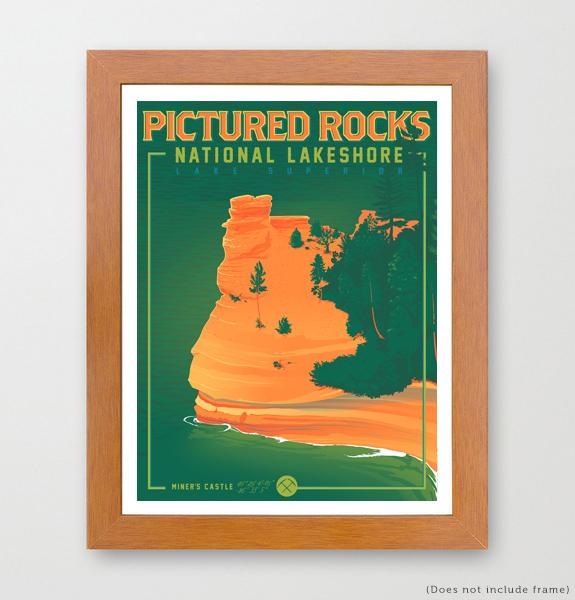 Miners castle michigan art print